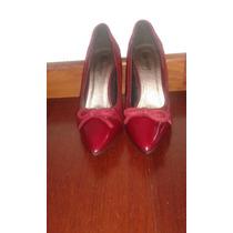 Zapatos Rojo Con Estampado Animal Negro Basinger Numero 38