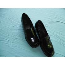 Zapatos Marca Bass Patente Negros De Dama Talla 8m