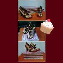 Tacones Doble Topping Chocolaticas