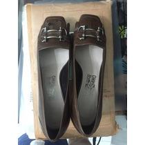 Zapatos Ferregamo Salvatore Originales Marrones Sin Uso 38