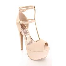 Zapatos Nude Garota Tacones Talla 39