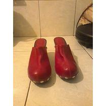 Zapatos Rojos De Cuero Bosi Colombiano