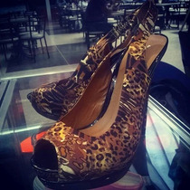 Zapatos Tacones Animal Print Anne Michelle Ofertazo