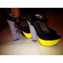 Oferta Bellos Zapatos Tacones Plataforma Nuevos Talla 37