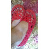 Zapatillas Para Damas Tejidas A Mano