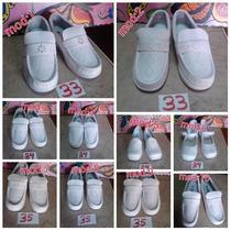 Zapatos Blanco De Enfermeras Colombianos 100% Cuero