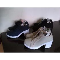 Zapatos De Damas, Botines Casuales Plataformas Deportivos
