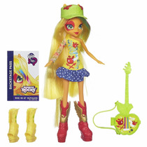 Equestria Girls Set Applejack Con Guitarra Hasbro