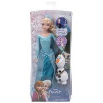 Bella Muñeca Frozen Original - Set De Princesa Elsa Y Olaf