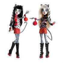 Monster High Gemelas Purrsephone Y Meowlody, Originales!!!