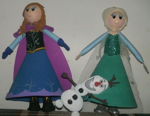 Muñecas Elsa Y Anna De Frozen En Foami - Bs. 450,00 en MercadoLibre