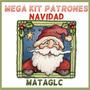 Mega Kit Imprimible Patrones Navidad Botas Muñecos Arbol