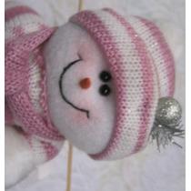 Muñeco De Nieve De Navidad Rosado