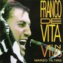 Franco De Vita. En Vivo Marzo 16. Cd Original, Nuevo, Import