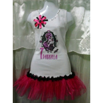 Franelas Decoradas Vestido Peppa Pig Personalizadas Tutu Tul