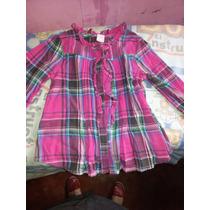 Camisa Oshkosh Talla 3 De Cuadros Niña