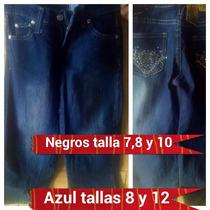 Pantalon Blue Jeans Niñas Strech Oferta