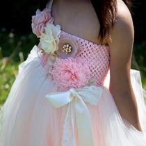 Vestido Para Matrimonio Bautizo Comunión Tutu Vintage