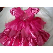 Vestido Formal Cortejo Cumpleaños Color Fucsia Bellisimo