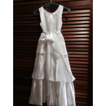Vestido De Comunión/paje Importado Talla 10, Tela Satinada
