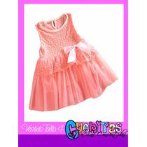 Vestido De Gala Tutu Fiestas De Niña Ropa Importado Talla 4