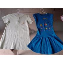 Vestido Casual Azúl Y Dormilona Para Niña Talla 4-5