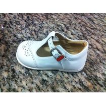 Zapatos Jolly Para Niñas, Talla 21. Blanco