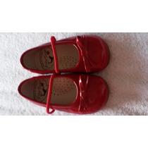 Zapatos De Cuero Patente Rojos. Talla 18 Nuevos Niña