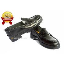 Zapatos Colegiales Tipo Mocasin De Cuero Para Niña O Niño.