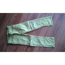 Pantalón Jean Color Amarillo