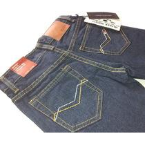Pantalon Jeans Tommy Niño Clasico Tela Gruesa Tallas 6 A 16