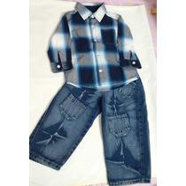 Conjunto Camisa De Vestir De Niño+pantalón Talla18m