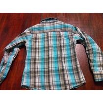 Espectacular Camisa De Cuadros Azul Con Negro Talla 8