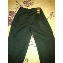 Pantalon Escolar De Gabardina. Talla 14