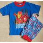 Avengers Vengadores Pijama Importada Niño Original