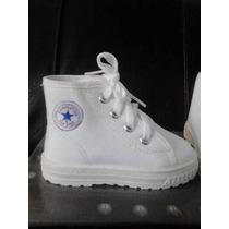 Zapatos Boticas De Niños Color Blanco Marca Top Star