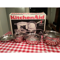 Juego De Ollas Kitchen Aid Original Five-ply Stanless Steel