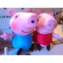 Peluche Peppa Pig Y George (combo) 25cm