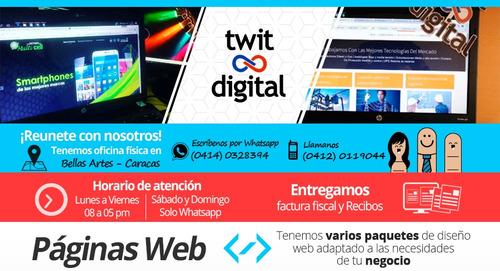 Páginas Web Autoadministrables|tiendas Online|diseño Gráfico