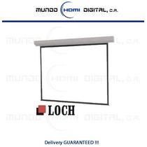 Pantalla De Proyector Manual Techo/pared 84