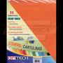 Cartulina Textura De Cuero Tamaño Carta 150gr 50 Und Naranja