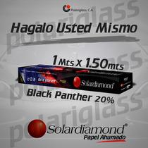 Papel Ahumado Solardiamond Panther 20% 1 Metro X 1,5 Mts