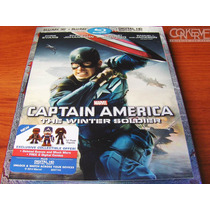 Capitán América: The Winter Soldier 3d Bluray + Bluray +dc