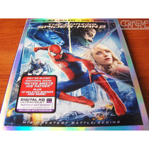 The Amazing Spider-man 2 3d Bluray + Bluray +dvd + Uv Nuevo