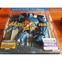 Pacific Rim Edición Limitada Bluray 3d + Bluray + Dvd +uvdc