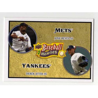 Cl27 2008 Upper Deck Baseball Heroes Derek Jeter & Jose Rey