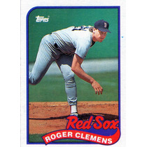 The Rocket Roger Clemens Gran Pitcher Topps 1.989 Original