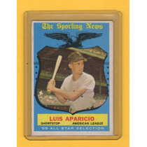 Luis Aparicio All Star 1959 -- Hall De La Fama