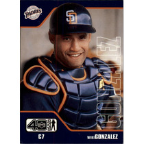 Cl27 2002 Upper Deck 40-man #843 Wiki Gonzalez 5-60