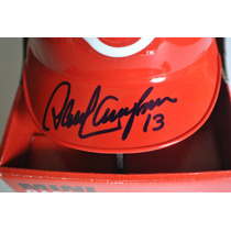 Kp3 David Concepcion Autografo Baseball Mini Helmet Ridell